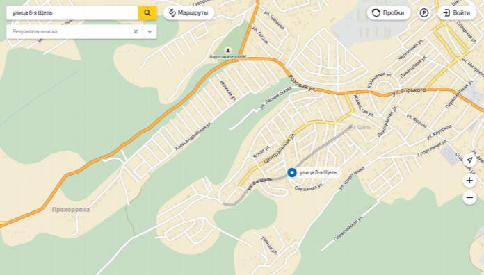 Яндекс нашел 8-ю Щель на карте и очень удивился